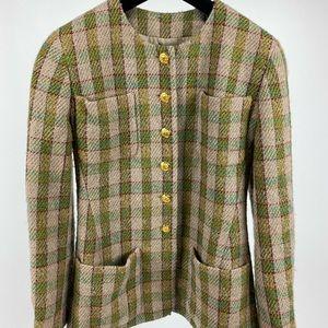 Vintage Chanel Checkered/Plaid Coat